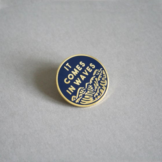 Image of 'Waves' Pin