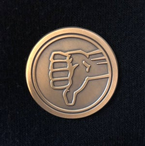 Image of The Bad Place Senior Staff Pin Badge - inspired by NBC's The Good Place