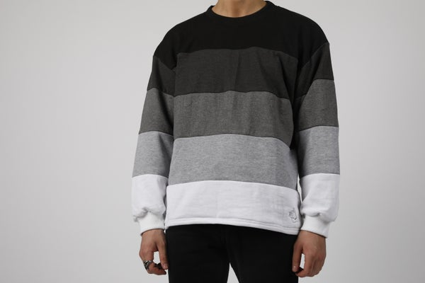 Image of Black to White Gradient Sweater Preorder