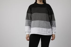 Image of Black to White Gradient Sweater