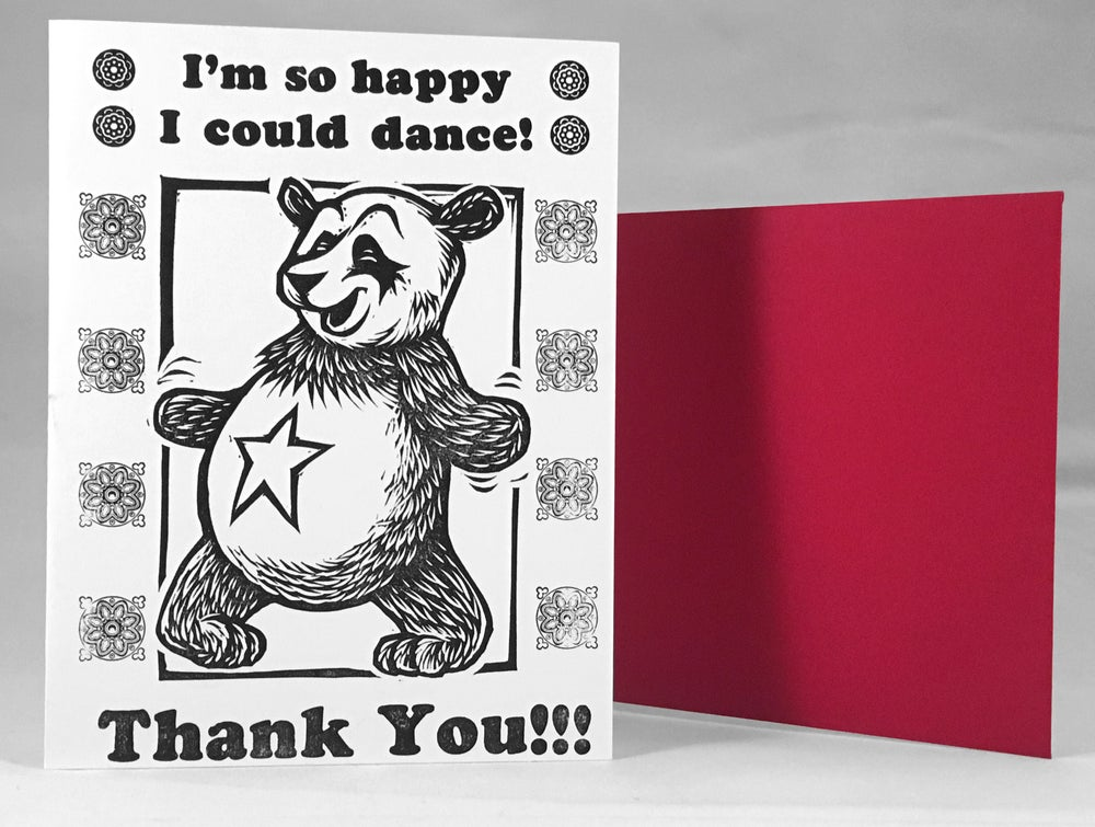 Image of I'm so happy I could dance - Thank you!!! Card