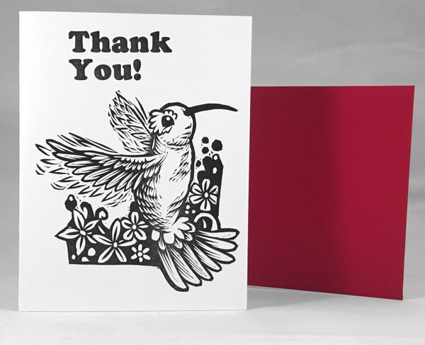 Image of Hummingbird Thank You! Card