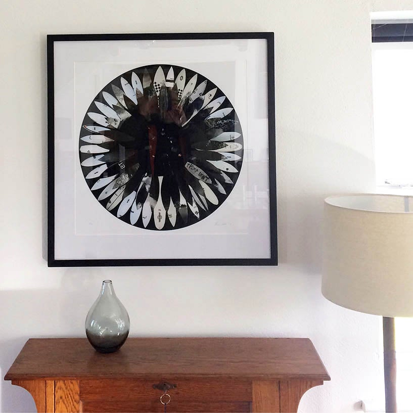 Image of NEW- Black Surf Flower Print