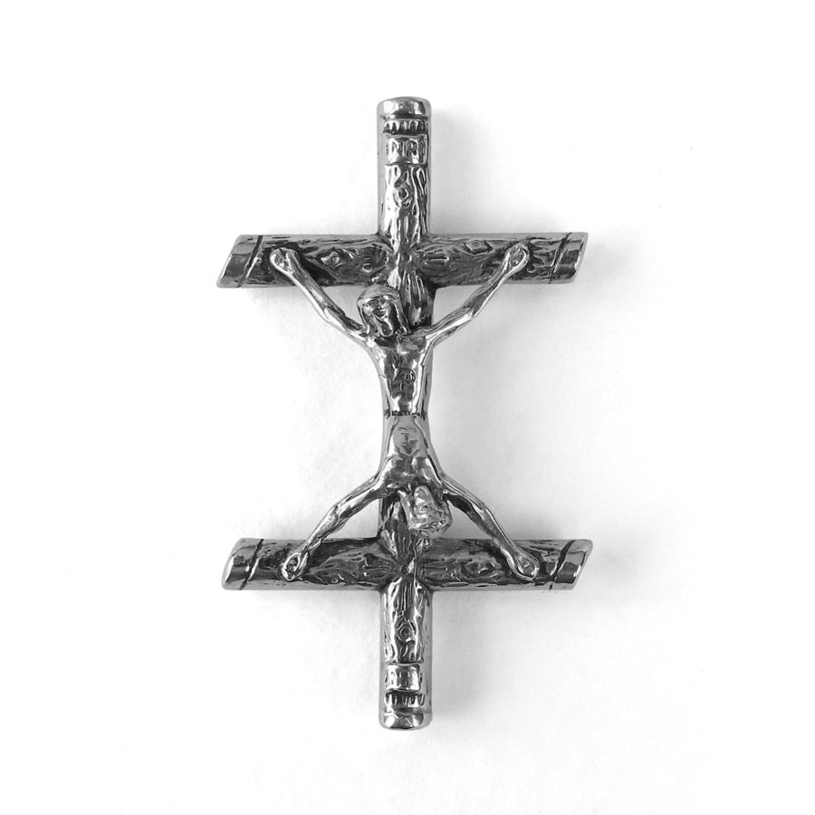 Image of Sterling Silver Conjoined Christ Pin