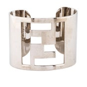 Image of PRE-OWNED: Fendi FF Logo Cuff