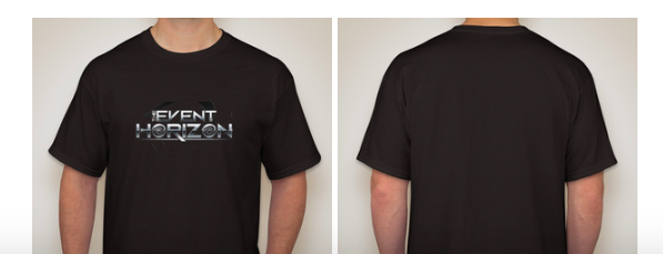 Image of Event Horizon Black T-Shirt