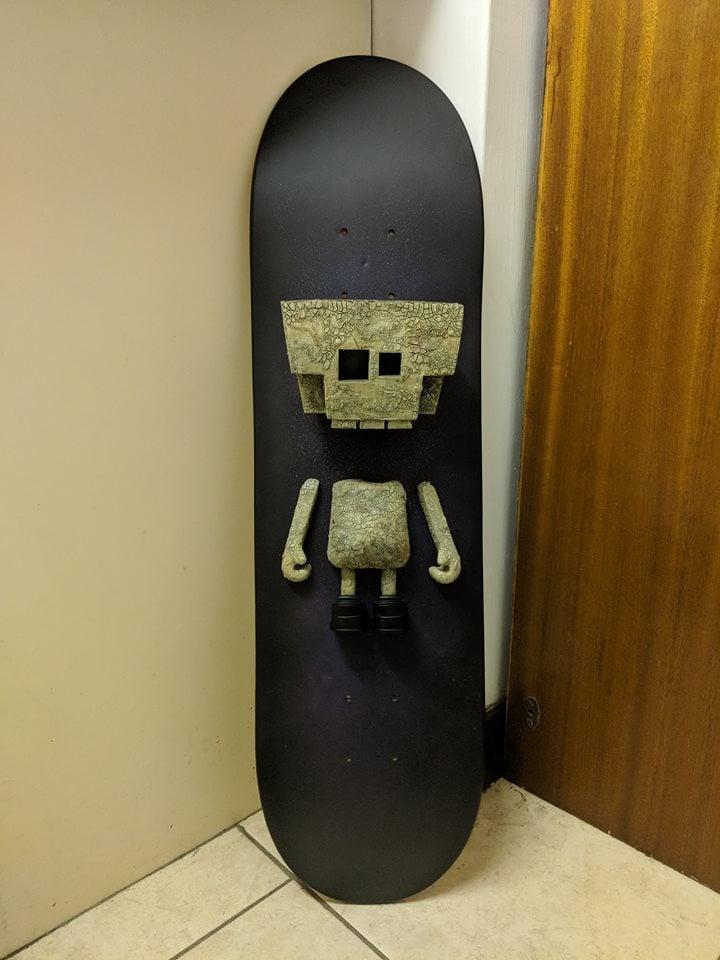 Image of Blue Frog Skate Deck