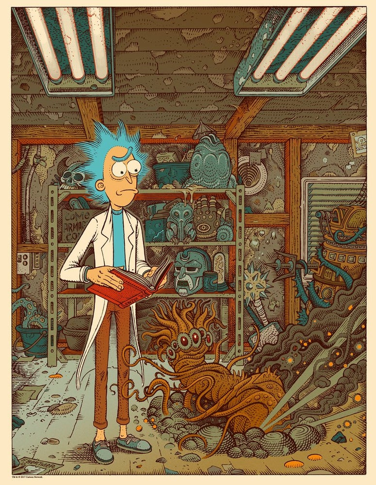 "Image of ""Rick Sanchez - The Whisperer in the Darkness"" - Artist Edition *hand embellished*"