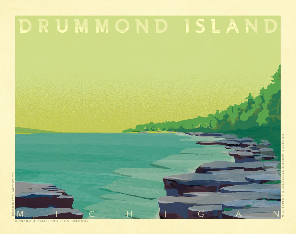 Image of Drummond Island Print No. [079]