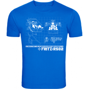 Image of Dr Fritz 'Robo-Schmech' Blueprint T-Shirt