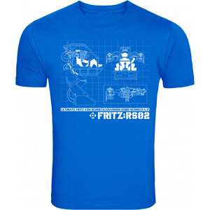 Image of Dr Fritz 'Robo-Schmech' Blueprint T-Shirt