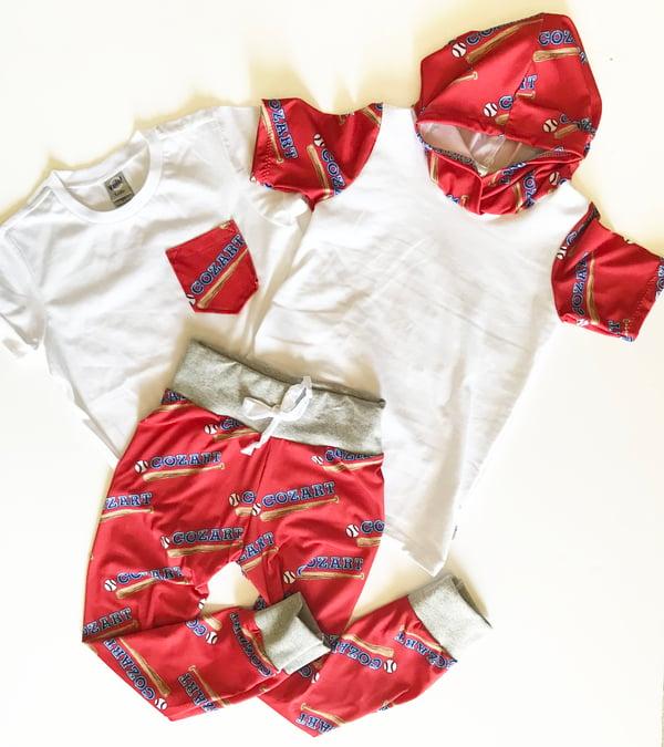 Image of Custom Jogger Pants and Pocket T-Shirt or Hooded Shirt