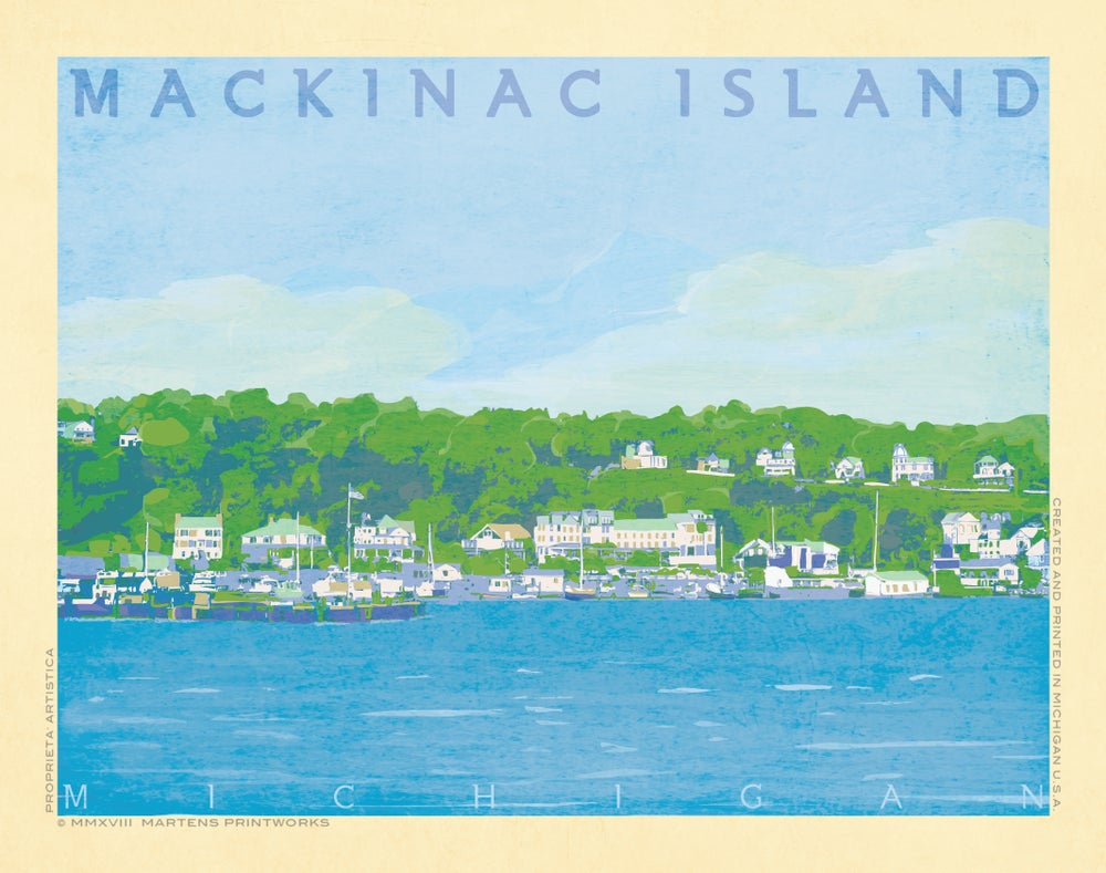 Image of Mackinac Island 11x14 Print No. [078]