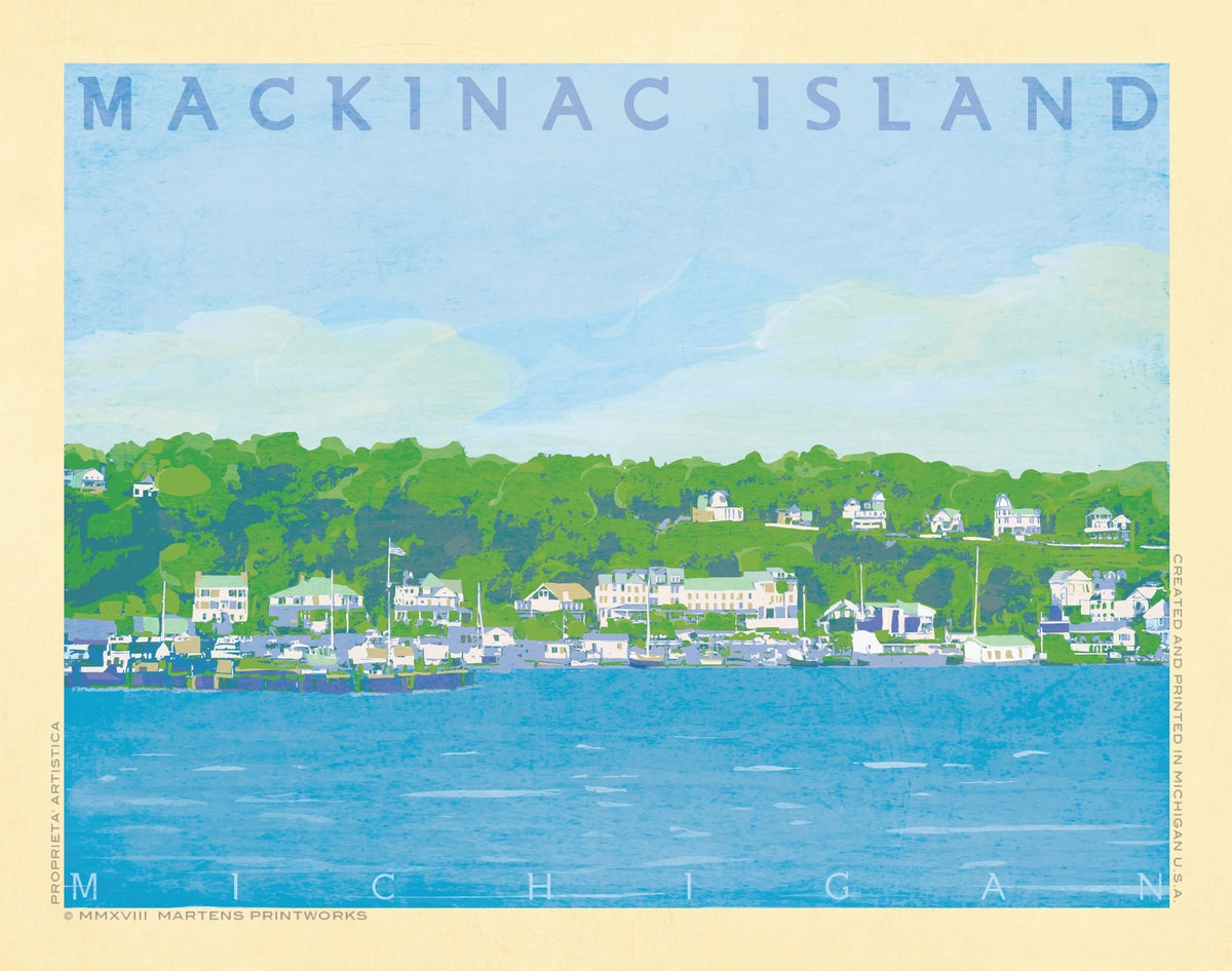 Image of Mackinac Island (Part of the Great Lakes Island Series) 11x14 Print No. [078]
