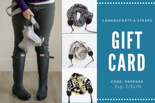 Image of Perfect Photographer Gift | Camera Coats Gift Cards | Camera Bag