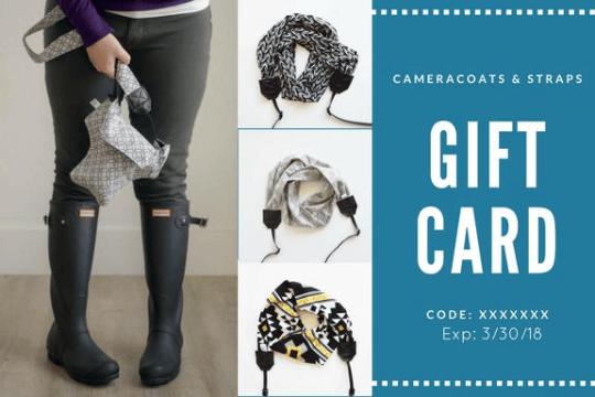 Image of Perfect Photographer Gift | Camera Coats Gift Cards | Camera Bag