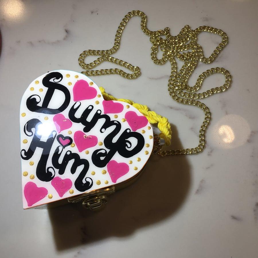 "Image of ""Dump Him"" mini purse"