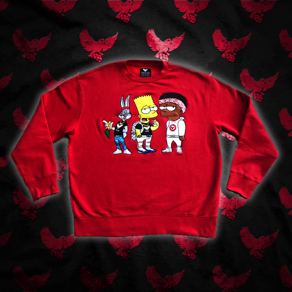 Image of Red CT1 Crewneck Sweater