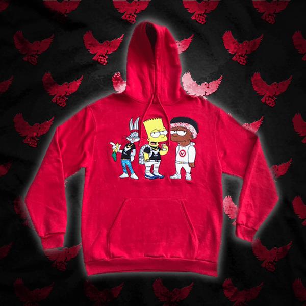 Image of Red Ct1 Hoodie