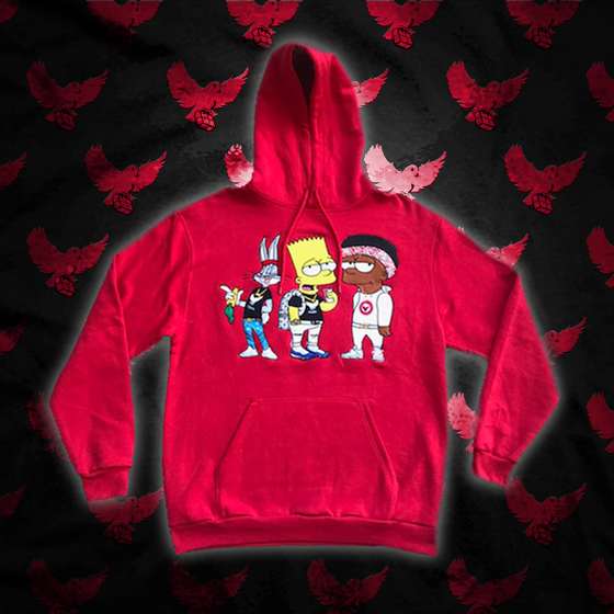 Image of Red Ct1 Hoodie