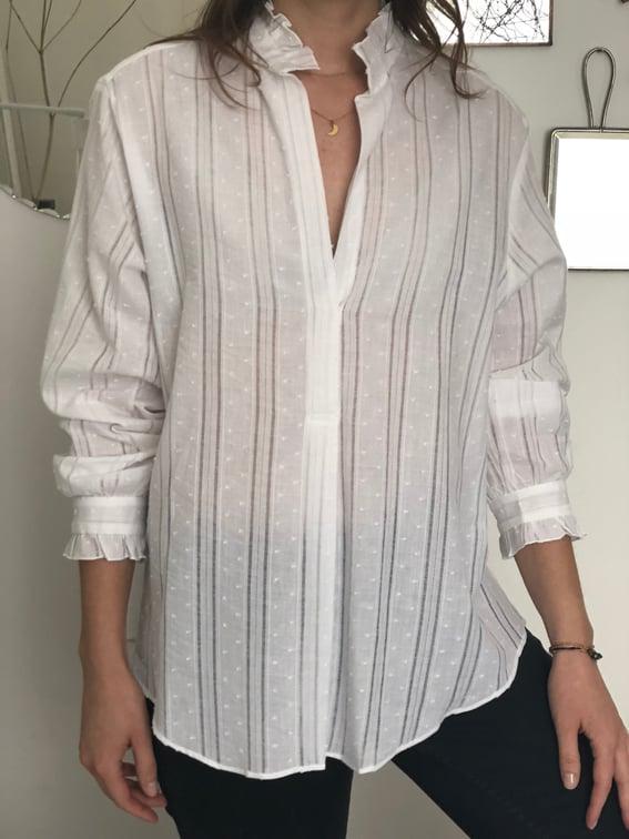 Blouse Sarah Plumetis 129€  -60% - Maison Brunet Paris