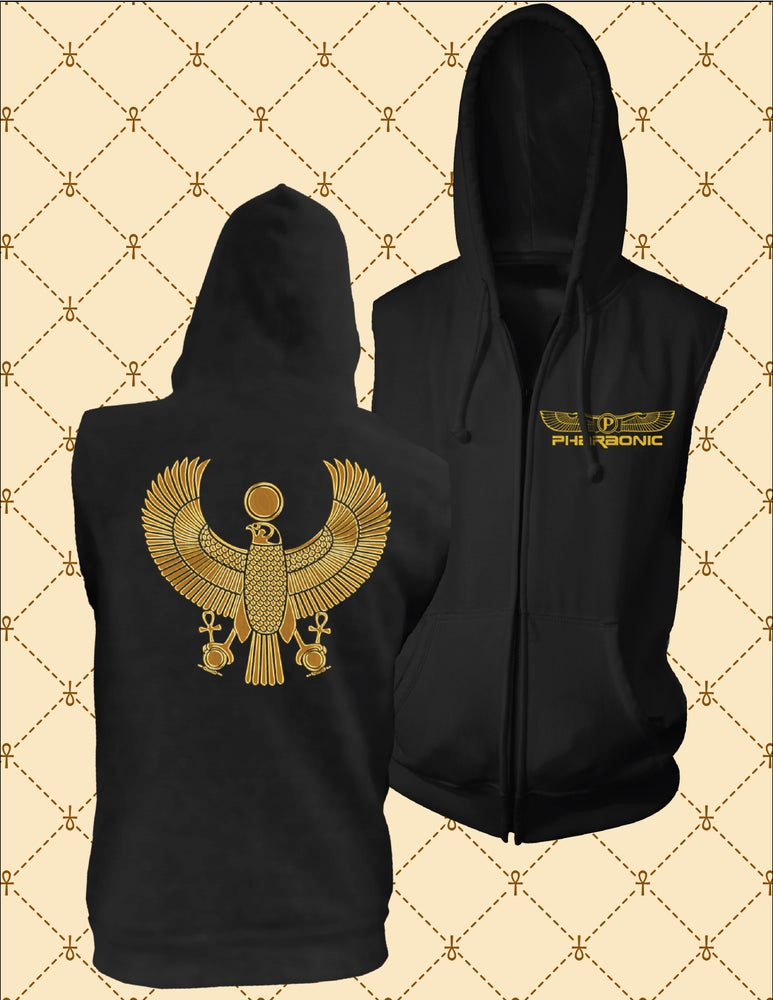 Image of Gold HRU Sleeveless Hoodie