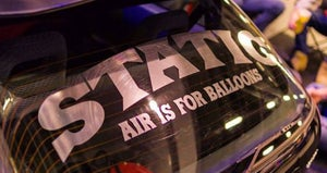 "Image of STATIC - ""AIR IS FOR BALLOONS"" Ver. 1 Windshield Banner"