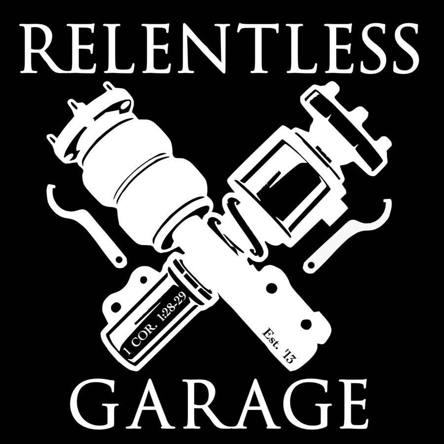 Image of Relentless Garage Window Decal