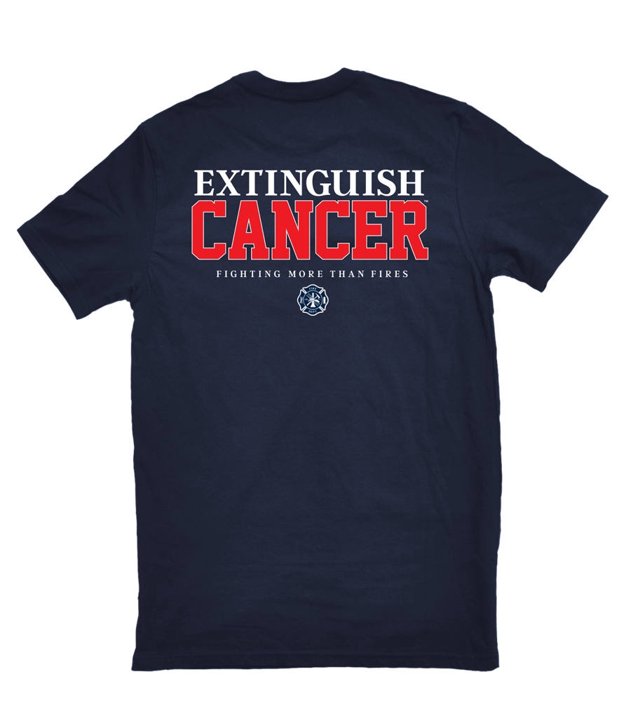 Image of Extinguish Cancer T-shirt (Navy)