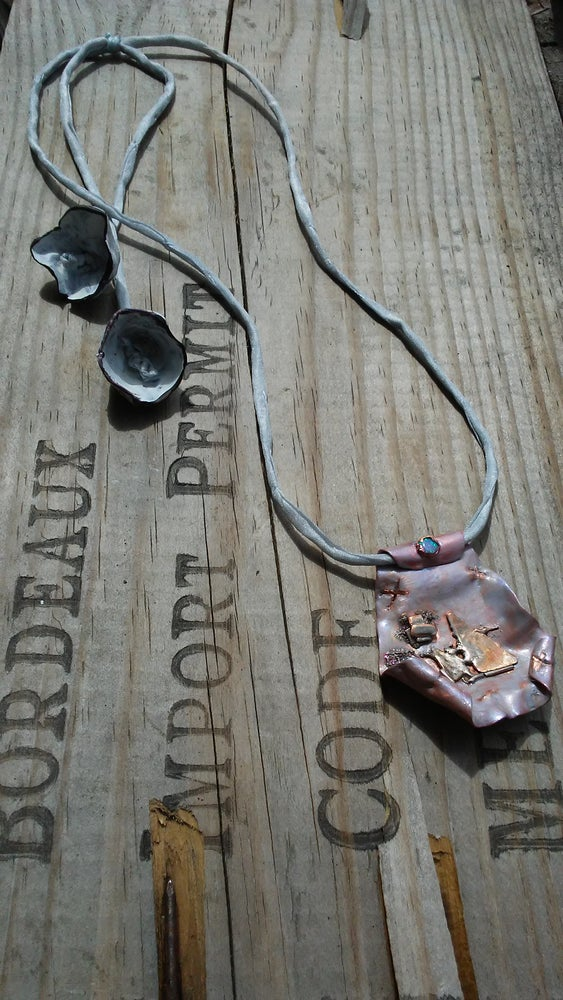Image of Copper Lavender Chaos Necklace