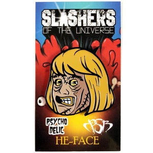 Image of He-Face pin (Slashers of the Universe)