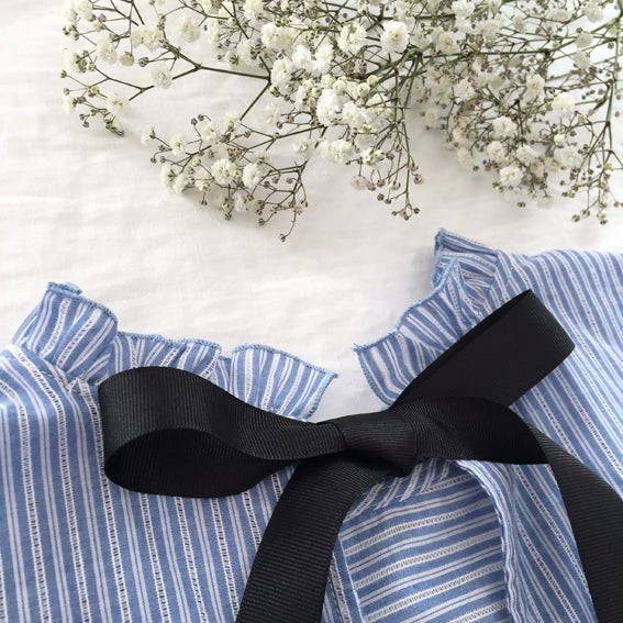 Blouse Clothilde Bleue - Maison Brunet Paris
