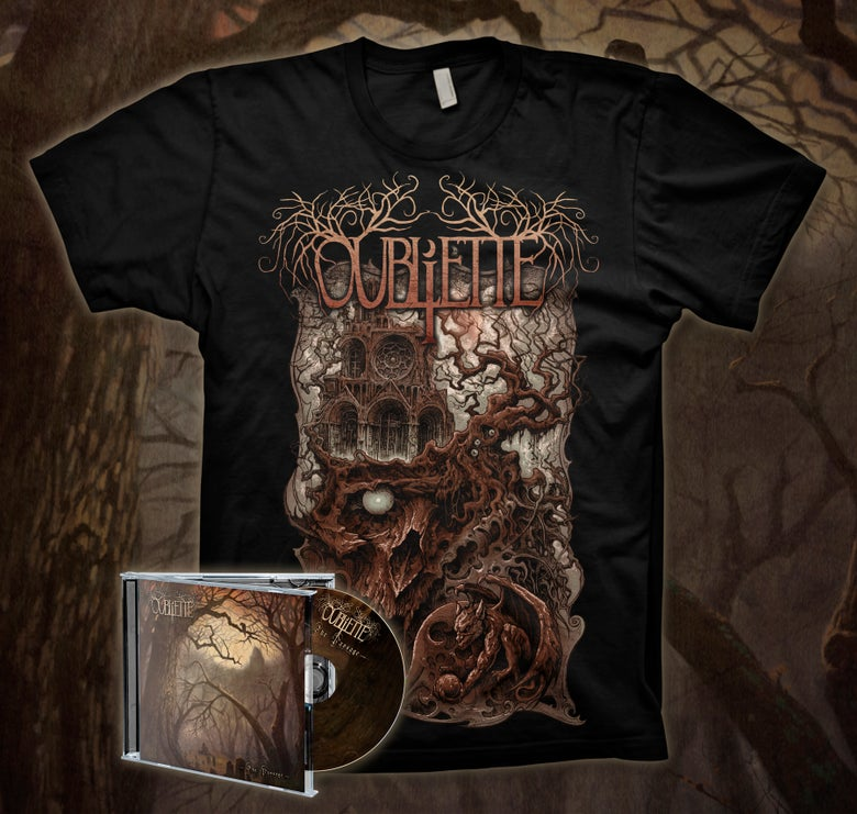 Image of [PRE-ORDER] OUBLIETTE - Griever - CD/TEE Bundle