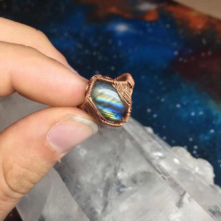 Image of Labradorite / Opal ring