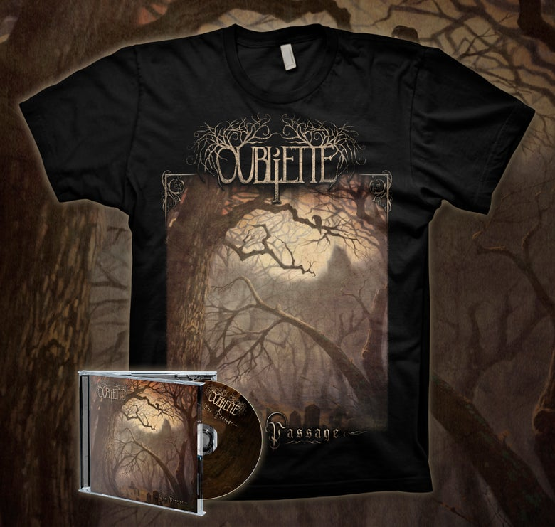 Image of [PRE-ORDER] OUBLIETTE - The Passage - CD/TEE Bundle