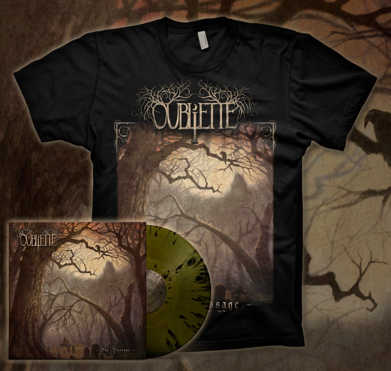 Image of [PRE-ORDER] OUBLIETTE - The Passage - Green/Black Splatter LP Bundle