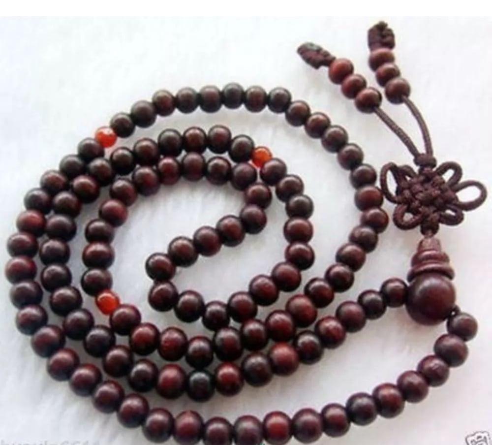 Image of SANDALWOOD MEDITATION YOGA PRAYER BEAD BRACELET