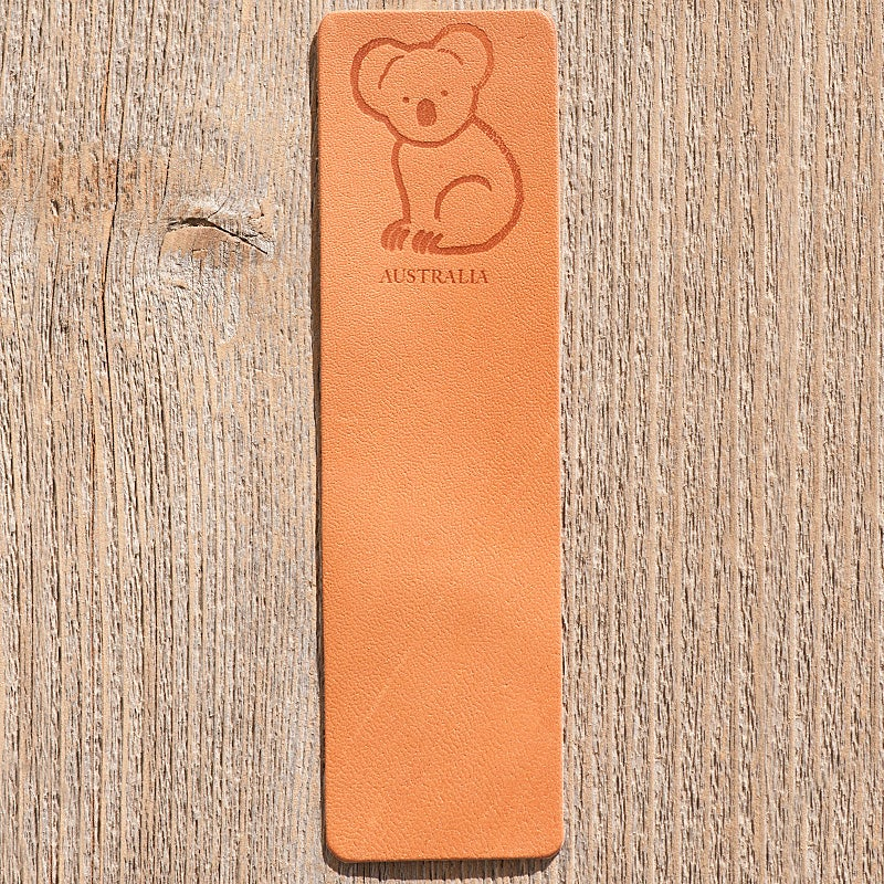 Image of Handmade Kangaroo leather bookmark - Koala, Australia