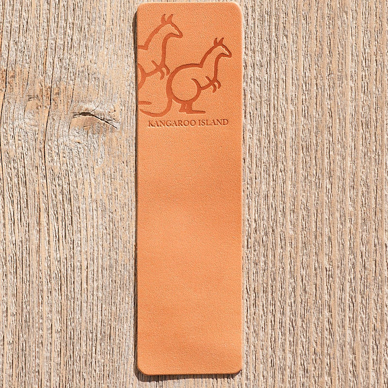 Image of Handmade Kangaroo leather bookmark - Kangaroo, Kangaroo Island