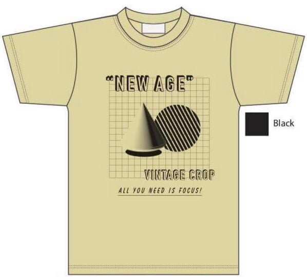 """Image of Vintage Crop - """"New Age"""" T-Shirt"""
