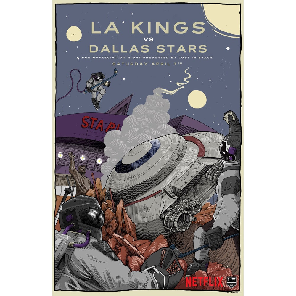 Image of LA Kings poster (Sponsored by Netflix's Lost In Space)