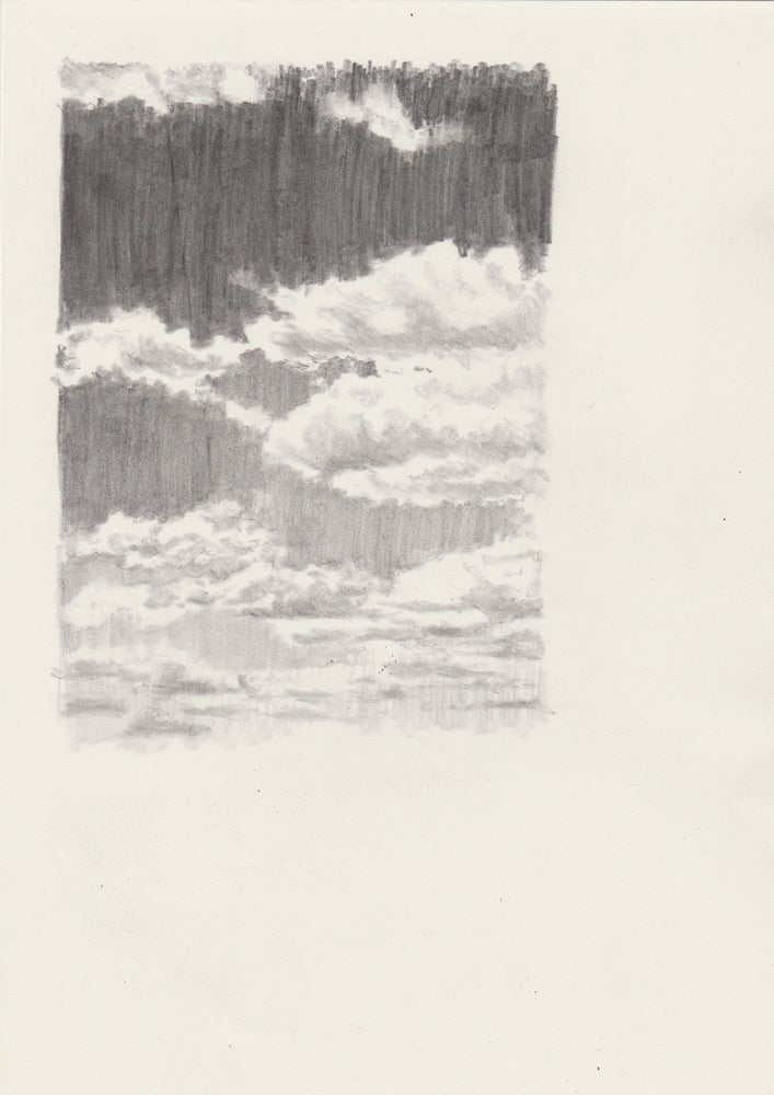 Image of September 2017 Cloud Fragment A4 Original Drawing