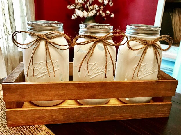 Image of Distressed Mason Jars