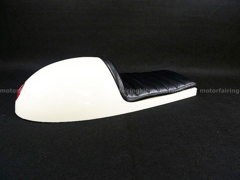 Image of Cafe Racer Hump Seat with Rear Light Embedded