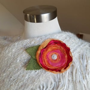 Image of Warm Sunset Floral Brooch