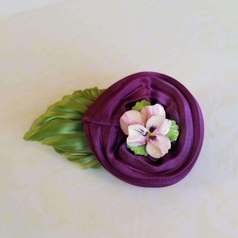 Image of Violet Soufflé Floral Brooch