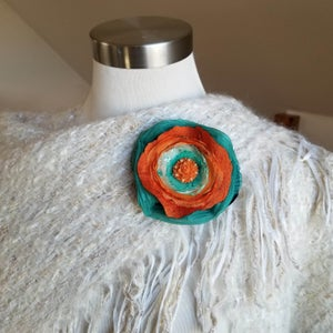 Image of Tangerine Dream Floral Brooch