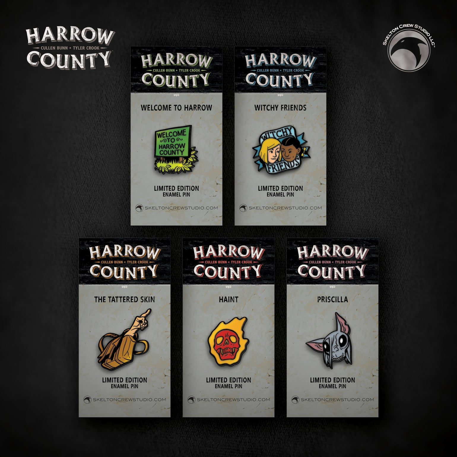 Image of Harrow County: Haint, Priscilla, Witchy Friends, Welcome Sign & Tattered Skin set!