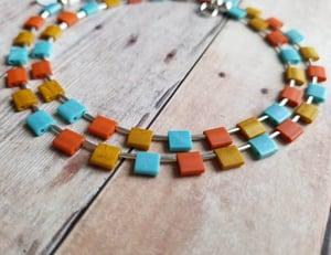 Image of Sata Fe Tile Necklace