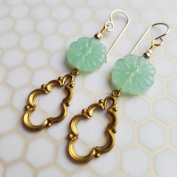 Image of Frilly Seafoam Danglers